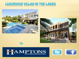 Luxurious villas in the Lakes,Dubai