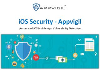 iOS Security Appvigil