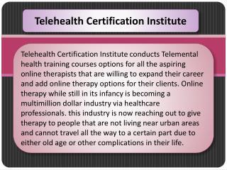Telehealth Certification Institute