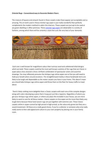 Oriential rugs
