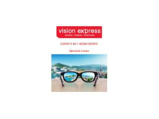 Spectacles Lenses - Vision Express