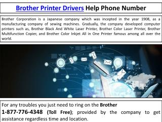 Brother Customer Service- Printers| Drivers| Help  | //<*1-877-776-4348*>//