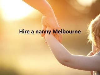 Hire a nanny Sydney