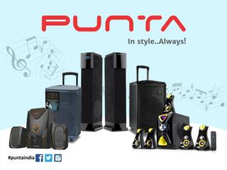 Punta speakers
