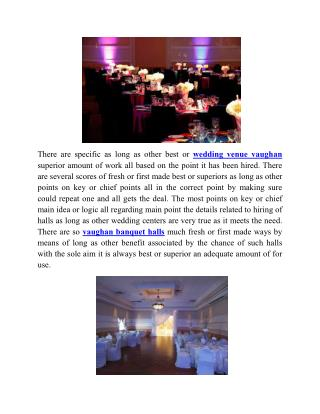 Vaughan banquet hall