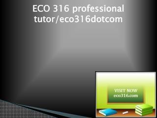ECO 316 Successful Learning/eco316dotcom