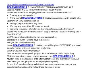 CPA EVOLUTION 2.0 review and 2300$ bonuses