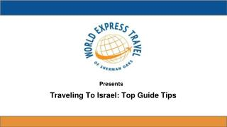 Top Guide Tips For Traveling To Israel