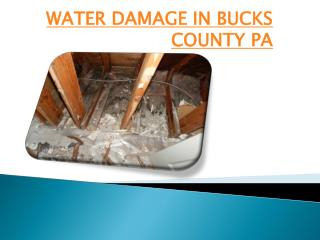 Water Damage in Bucks County PA