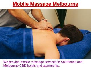 Remedial Massage & Myotherapy Services in Melbourne
