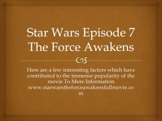 Star Wars Episode 7 The Force Awakens 2015 online
