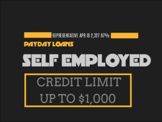 Payday Loans Self Employed: Can Be Obtained With Relative Ease To Meet Any Financial Needs