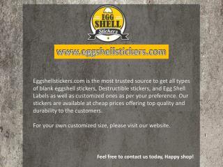 Amazing custom stickers online at Eggshellstickers.com