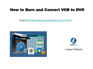How to burn and convert vob to dvd