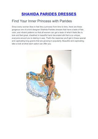 Shahida Parides Dresses