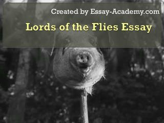 Lords of the Flies Essay