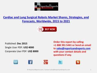 Cardiac and Lung Surgical Robots Market Scenario and Growth Prospects 2021