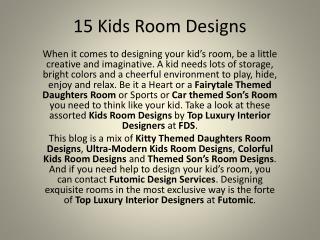 Top Designs for Kids Room