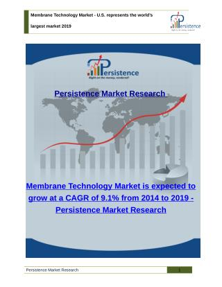 Membrane Technology Market - Trends, Size, Share and Analysis to 2019