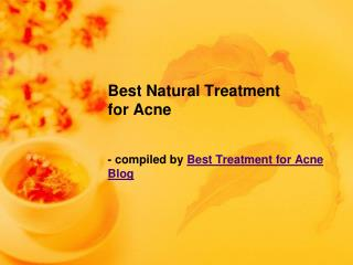 Best Natural Treatment for Acne