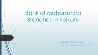 MICR Code for Bank of Maharashtra Branches In Kolkata.