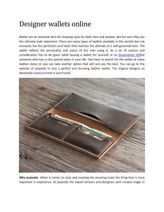 Designer wallets online