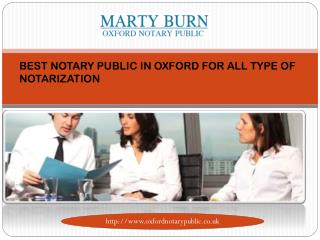 BEST NOTARY PUBLIC IN OXFORD FOR ALL TYPE OF NOTARIZATION