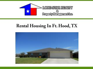 Rental Housing In Ft. Hood, TX