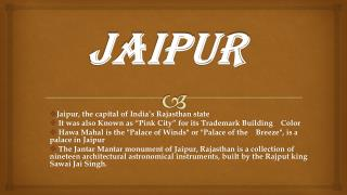 Top 10 Attractions and Places to Visit in Jaipur