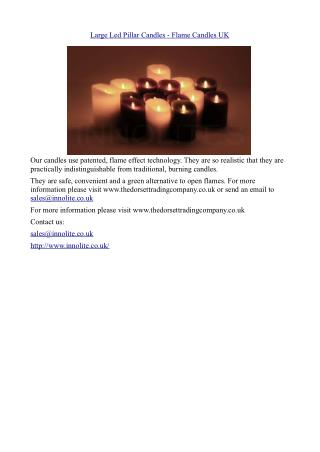 Large Led Pillar Candles - Flame Candles uk