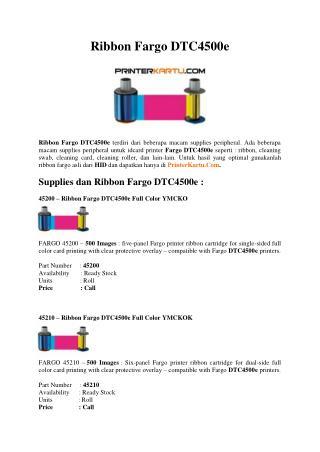 Ribbon Fargo DTC4500e