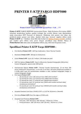 Printer E-KTP FARGO HDP5000