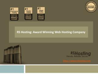 Cheap Web Hosting -RS Hosting