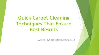 Quick and Easy Carpet Cleaning Techniques