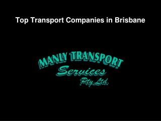 Top Transport Companies in Brisbane