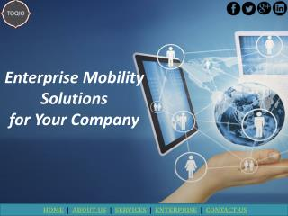 Enterprise Mobility Solutions for Your Company | TOQIO