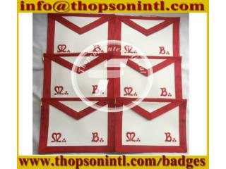 Masonic French rite apron MB