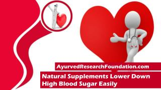 Natural Supplements Lower Down High Blood Sugar Easily