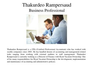 Thakurdeo Rampersaud-Business Professional