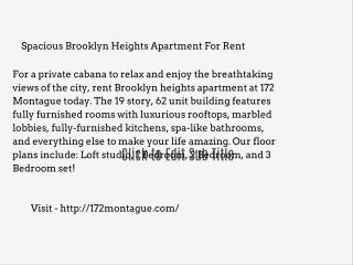 Brooklyn heights apartment