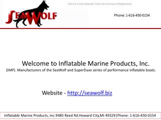 Inflatable fishing boat sea wolf series