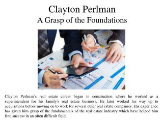 Clayton Perlman A Grasp of the Foundations