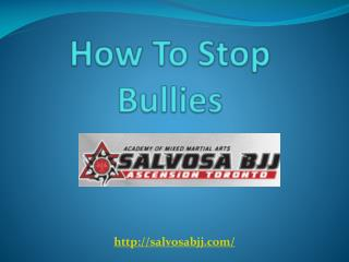 How To Stop Bullies