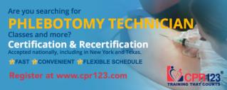 Phlebotomy Technician Certification and Recertification NYC, NY