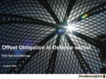 Offset Obligation in Defence sector PwC Service Offerings