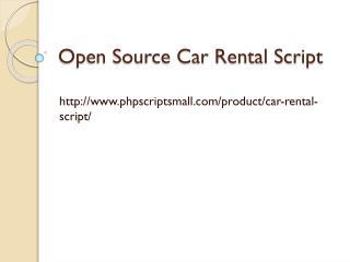Open Source Car Rental Script