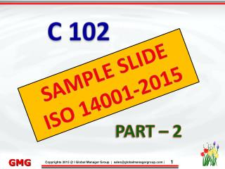 PPT Presentation on ISO 14001 Training