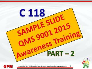 ISO 9001 Training presentation