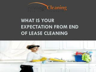 What is Your Expectation From End of Lease Cleaning