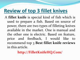 Review of top rated 3 best fillet knives On Buyers Guide For 2016
